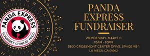 Panda Express Fundraiser @ Panda Express   La Mesa   California   United States