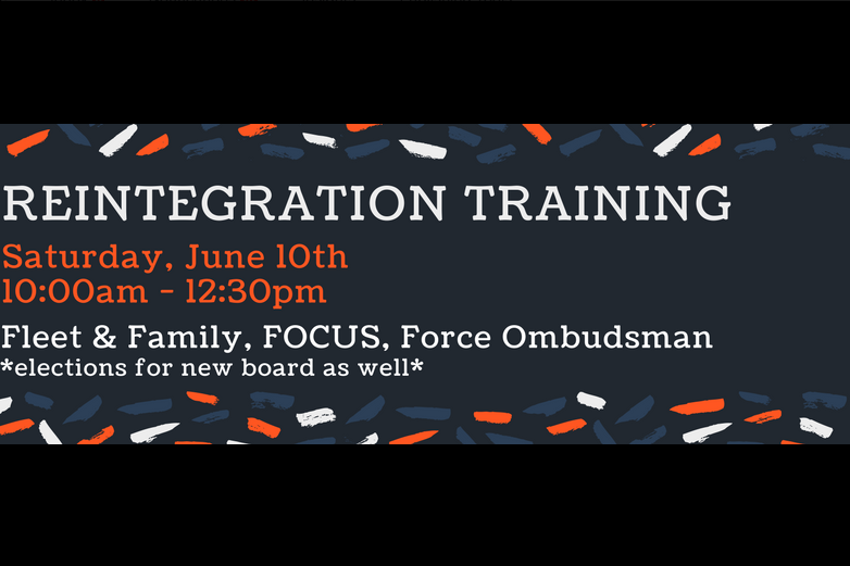 Reintegration Training @ Murphy Canyon Area - please RSVP to receive exact location information prior to the event